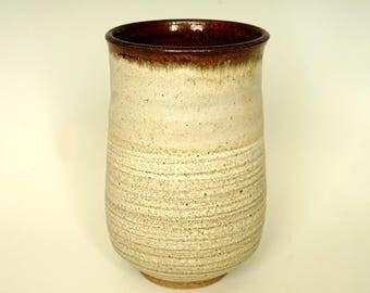 Ceramic vase, handmade vase, white vase, flower vase, high fired