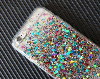 Confetti - glitter case iphone 7 case iphone 7 plus case iphone 6s case iphone 6s plus case iphone 6 case iPhone 6plus case