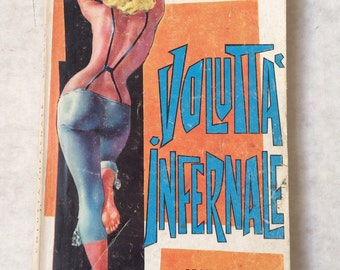 1964 Italian DRACULA pulp Volutta Infernale BRAM STOKER Mod Girlie pin-up cover
