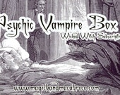 Wicked Witch Subscription Box Monthly Wiccan/New Age Goodies to your door! Wiccan, Gothic, Vegan, New Age! January's Box: Psychic Vampires!