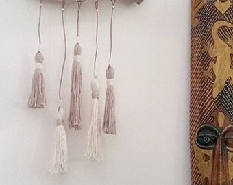 Cream Cotton Tassel Wall Hanging