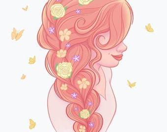 Pink Braid, 11x14