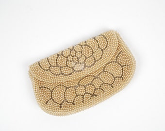 1950's Beaded Clutch - 50's Pearl Evening Bag