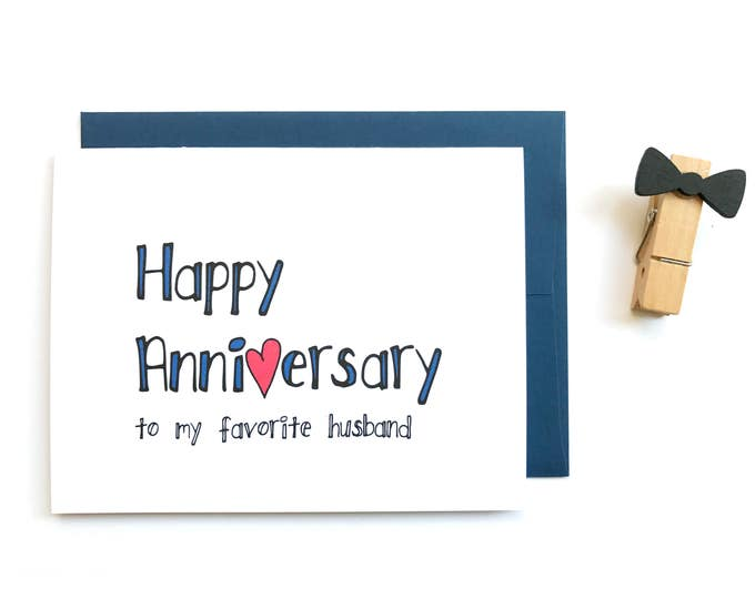 Funny Anniversary Card for Husband from Wife - I Love You  You're My Favorite Husband