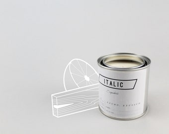 07 // Lumberjack Breakfast - Half Pint (8oz) Scented Soy Candle in Paint Can (Cedar and Grapefruit)