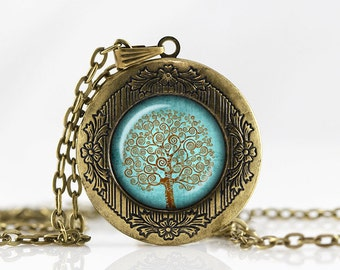 Tree of life Locket Necklace Family tree  jewelry Personalized Photo Locket Customized with your Photo pendant  photo locket necklace