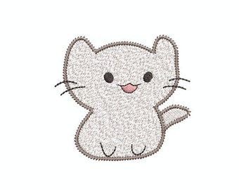 Applique and Fill Stitch Kitty Cat Designs