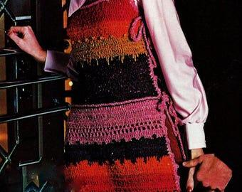 Tabard Vest Vintage Crochet Pattern Download