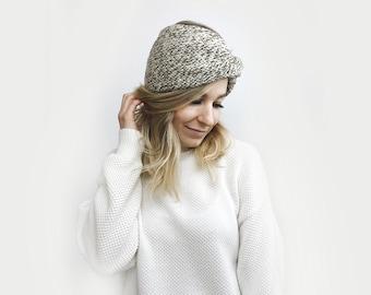 Knit Turban Headband, Twisted Earwarmer ⨯ The Roseaux ⨯ in OAK