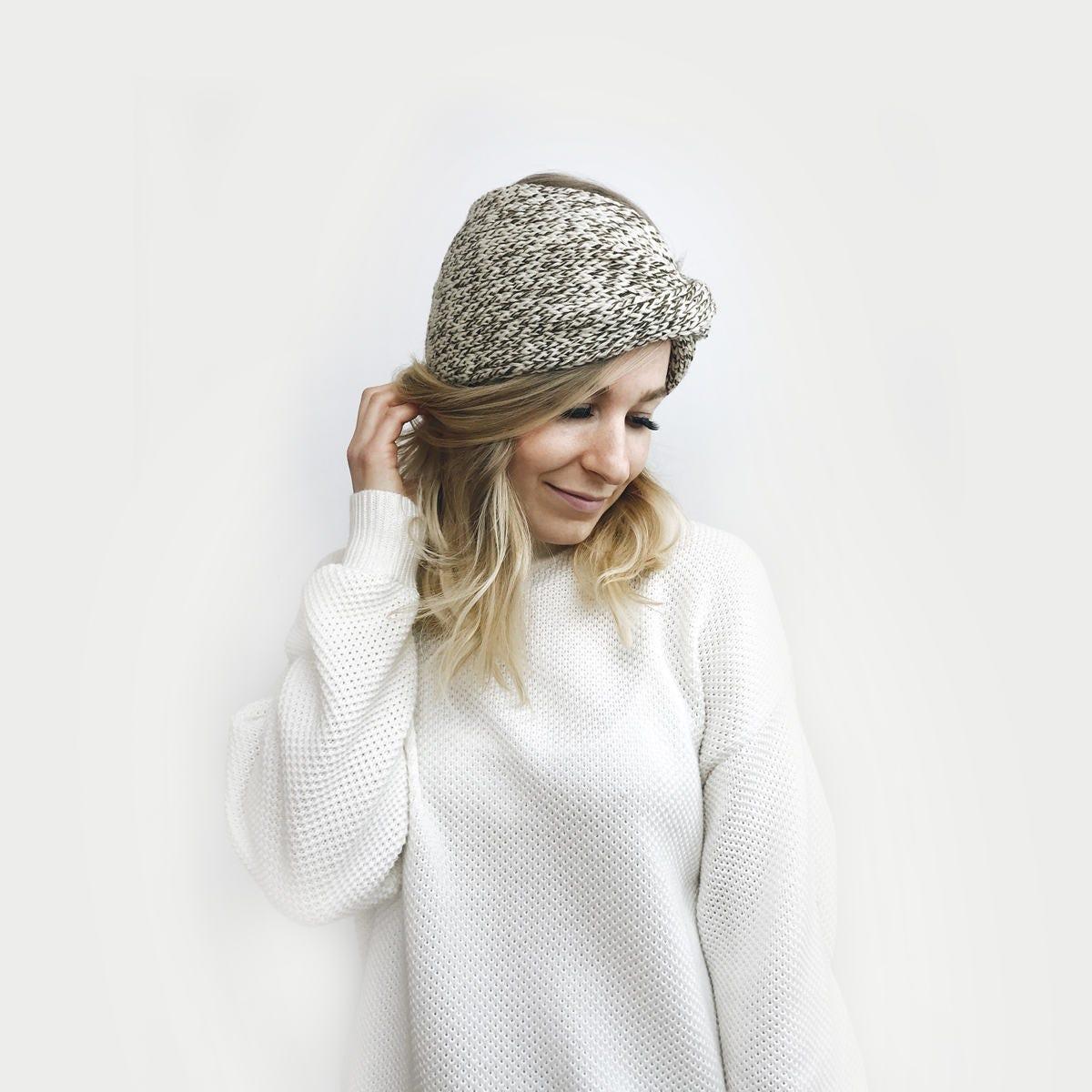 Knit Turban Headband Twisted Earwarmer The Roseaux in OAK