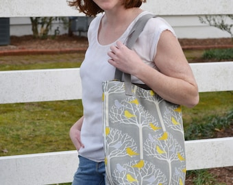Birds in Trees Duerre Tote // Everyday bag // Gifts for her // Carry all bag
