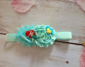 Ariel - The Little Mermaid newborn baby girls couture headband-under the sea party headband