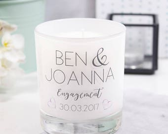 Engagement Scented Candle - Luxury Engagement Candle - She Said Yes Gift - Engagement Gift - Got Engaged Candle - Congratulations Candle