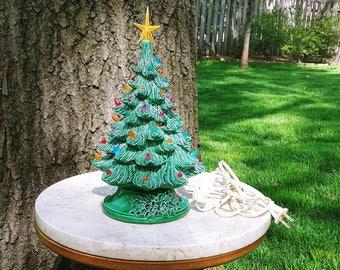 "Vintage 10"" Ceramic Christmas Tree"