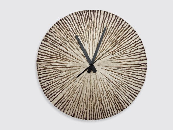 Modern large clock gold wall clock gold bronze home decor for Large gold wall clocks