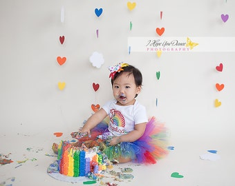 1st Birthday Rainbow Tutu Outfit