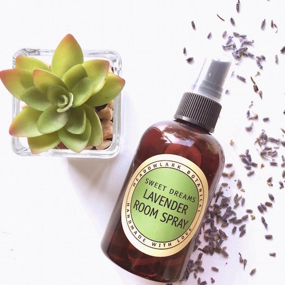 Relaxing Room Spray: Organic Lavender Room Spray For Meditation Relaxation And