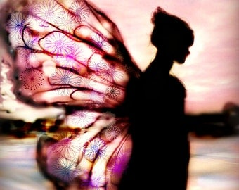 THE BUTTERFLY by Anita .. Prints, or Greeting Card .. . CHOOSE Quote 1 or 2 ( see photos) No Zen to Zany watermark on Prints..