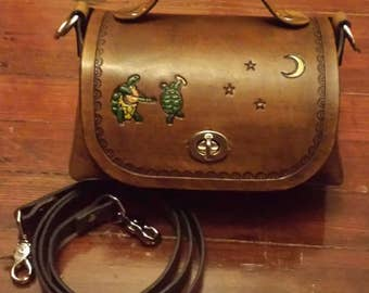 READY TO SHIP - Custom Leather Grateful Dead Bag