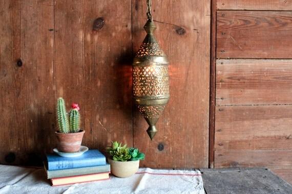 Vintage Hanging Lamp Rustic Wedding Lighting Boho Lighting