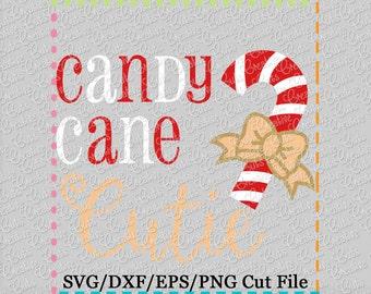 EXCLUSIVE SVG Candy Cane Cutie Cutting File, candy cane cut file, candy cane svg, Christmas svg, Christmas cut file, candy cane cutie svg
