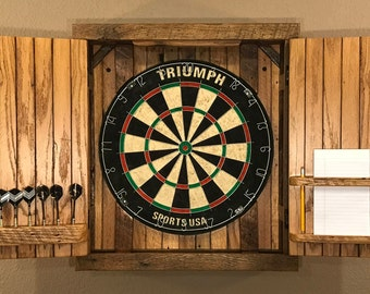 Natural Rustic Dartboard Cabinet - Reclaimed Barn Wood, Home Decor, Home & Living-MADE TO ORDER