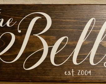 Customized Wood Family Name Sign