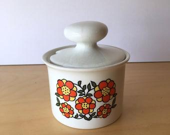 Vintage Taunton Vale- Red Floral Design- Preserve Pot