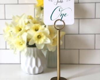 gold table number holders gold menu holders gold table number stands gold wedding