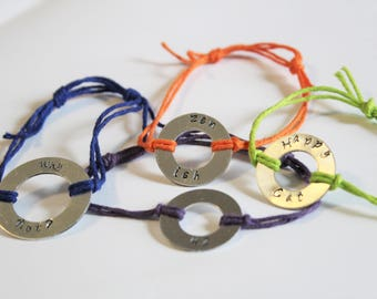 Design Your Own Custom Stamped Bracelet With Sliding Closure Made to Order