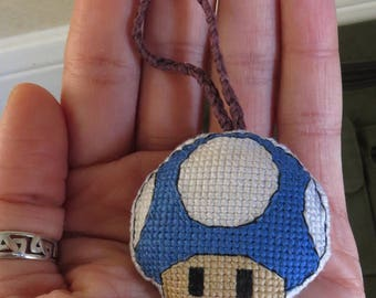 Blue Mario Mushroom Toadstool Charm for Keychain, Bags, Backpacks, Purses,  Rear View Mirrors, and/or Zippers