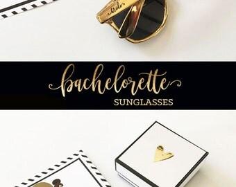 Bachelorette Sunglasses Bachelorette Party Sunglasses - Bachelorette Party Favors Bachelorette Favors Bachelorette Weekend Ideas (EB3181TRB)