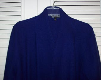 Cape Jacket, Boiled Wool, Eileen Fisher, Deep Purple, XL or One Size see details