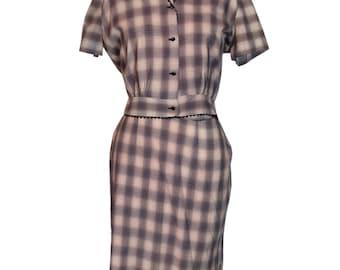 Original Vintage 1950's American Skirt Suit Summer Suit By Benlee Blouse Petite