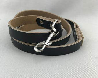 Black Leather Wedding Dog Leash Pet Leash Dog Wedding Outfit