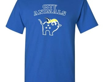 Mens City Animals TShirt for Coach, Bench Player, Star Player