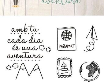 Sello Acrílico para Scrapbooking AVENTURA Català