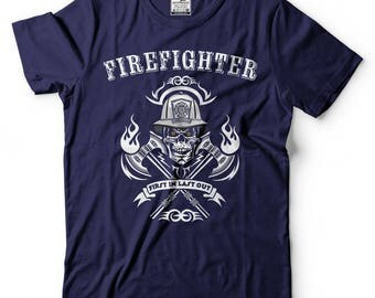 Firefighter T-Shirt Gift For Firefighter Shirt American Firefighter Tee Shirt