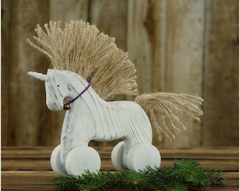 Wooden Unicorn Toy Etsy