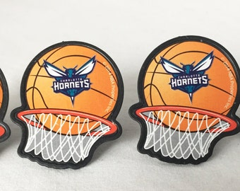 12 Charlotte Hornets Cupcake Rings NBA Basketball Toppers Party Favors