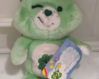 Care Bears 80s Good Luck Bear With Tag