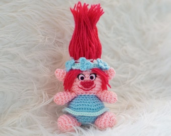 Poppy Trolls Moviev Amigurumi Pattern Easy DIY PDF Crochet Tutorial Troll DreamWorks