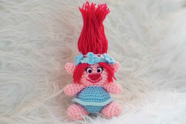 Trolls Knitting Or Crocheting Patterns : Poppy trolls moviev amigurumi pattern easy diy pdf crochet