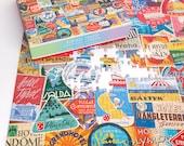 Vintage Travel Luggage labels 500 Piece Puzzle