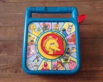 1989 Big Bird Speak and Say, Vintage Sesame Street, Playskool, Speak and Say, Big Bird