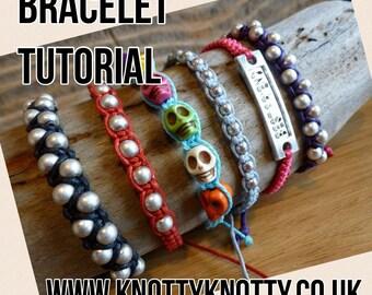 TUTORIAL Macrame Bracelets / Adjustable Macrame Bracelets with Beads DIY