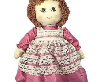 Vintage Handmade Rag Doll    Proverb 3: 5.6 and God Loves You Tags    Vintage Baby Decor   Baby Shower Gift
