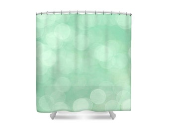 Green Shower Curtain, Abstract Shower Curtain, Mint Green Decor, Green Bathroom, Bathroom Decor, Modern Decor, Pastel Decor, Mint Bathroom