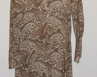 60's paisley dress