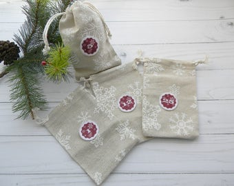 Advent calendar bags Advent Calendar Kit Christmas Advent Calendar Linen bags Holiday buntingChristmas Countdown Hanging Advent Bags